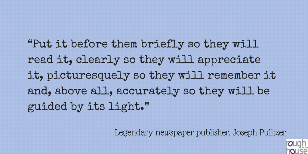 Pulitzer quote on writing